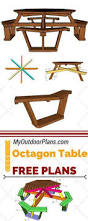 Free Octagon Wooden Picnic Table Plans by Best 25 Picnic Table Plans Ideas On Pinterest Outdoor Table