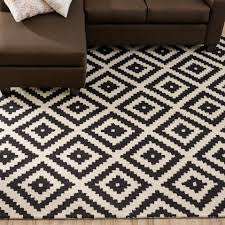 Checkered Area Rug by Black Area Rugs Black Red White Multi 5feet 2inch By 7feet 2