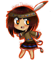 Indian Thanksgiving Chibi Indian Happy Thanksgiving By Mizustarproductions On