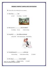 present perfect simple and present perfect continuous present