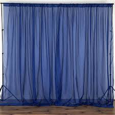 Navy Blue Sheer Curtains 10ft Retardant Navy Sheer Voil Curtain Panel Backdrop