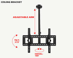 Ceiling Mounted Tv by Ceiling Tv Brackets 70 Off And Free Next Day Delivery Ceiling
