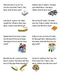 word problem addition and subtraction word problem task cards word problems cards and math