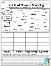 nouns verbs and adjectives u2013 free grammar worksheet for fourth
