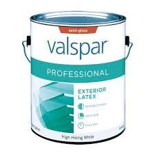 valspar professional exterior semi gloss paint gallon exterior