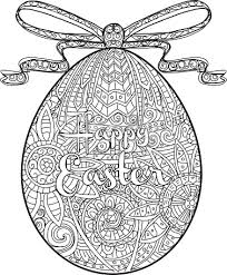 happy easter coloring book egg design text greeting
