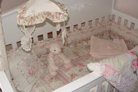 shabby chic nursery pink roses vintage chenille project nursery