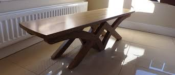 Oak Dining Table Bench Oak Dining Table Benches U2013 Shane Tubrid Furniture U0026 Wood Turning