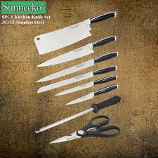 reviews sunnecko high quality 8pcs kitchen knife set 3cr13