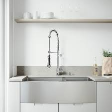 what is an apron front sink vigo all in one farmhouse apron front stainless steel 36 in 0 hole