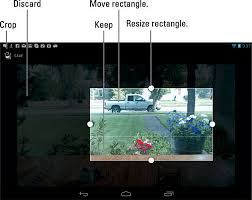 resize photo android how to crop an image on the android tablet dummies