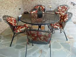 Patio Chair Seat Pads Wrought Iron Patio Chairs Furniture All Home Design Ideas Best