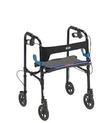 senior walkers with seat drive deluxe clever lite rollator walker with