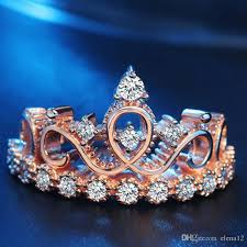 crown rings jewelry images Online cheap fashion zircon crystal diamond crown ring women rose jpg