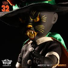 dead dolls series 32 vintage halloween black cat witch mezco in stock