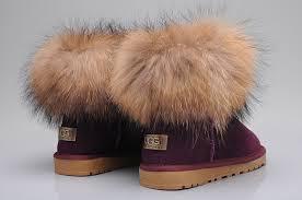 womens ugg fur boots style ugg 5854 fox fur boots mini purple boots