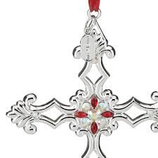 lenox gemmed silver cross ornament 2016 lenox ornaments