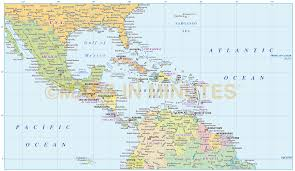A Map Of Central America by Map Of Central America And The Caribbean Maps Of The Americas