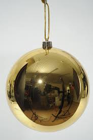 Giant Gold Shiny Shatterproof Christmas Bauble 250mm Christmas Style