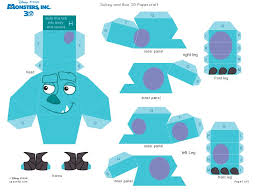 monsters 3d sully 1 5 3d paper sully