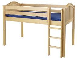 maxtrix low loft bed w straight ladder twin size