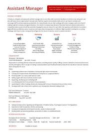 assistant manager resume assistant manager resume retail cv description