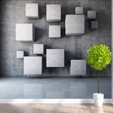 papier peint bureau personnalisé toute taille moderne 3d stéréoscopique géométrie