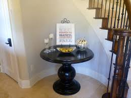 round pedestal foyer table with nice black round foyer table ideas
