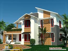 bedroom sloping roof house kerala april building plans online