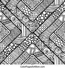 hard coloring pages adults simple pattern coloring pages