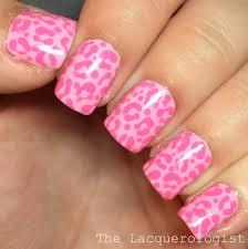 monochromatic pink leopard nail art jamie u0026 nate u0027s wedding