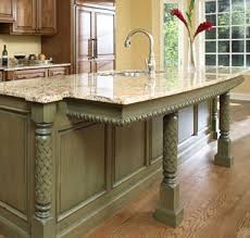 kitchen islands with columns specialty millwork