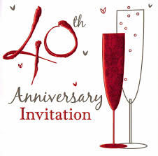 Marriage Anniversary Invitation Card 36 X Ruby Wedding Anniversary Invitation Cards 40th Party Invites