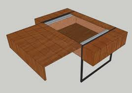 blueprint plans for block coffee table with hidden storage please