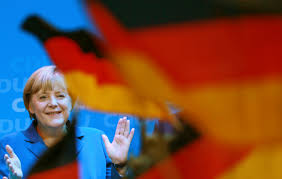 German Flag Emoji Merkel Campaigns With German Flag To Steal A March On Nationalists