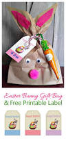 easter bunny gift bag with a free gift tag printable always the