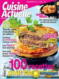 magazine cuisine actuelle cuisine actuelle novembre 2013 no 275 pdf magazines