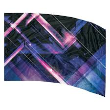 Geometric Flag In Stock Printed Color Guard Flag Flp100 Band Shoppe