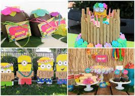 luau birthday party minion luau birthday party diy inspired