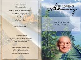 create funeral programs afterglow funeral program template program template and template