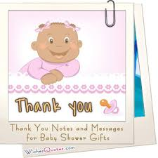 glamorous thank you note from baby for baby shower gift 54 in