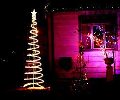 lighted outdoor christmas trees sacharoff decoration