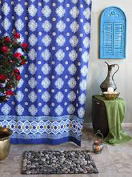 Moroccan Print Curtains Casablanca Blues Moroccan Style Quatrefoil Print Shower Curtain