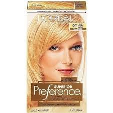 Light Golden Blonde Hair Color Loreal Paris Superior Preference Haircolor Light Golden Blonde 9g