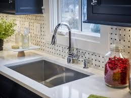 Kitchen Sink Backsplash Granite Countertop White Countertops With Brown Cabinets How To