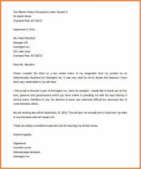 6 resignation letter examples 2 weeks notice resign letter job