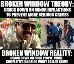 Scam Meme - the scam of the broken windows theory by 皎 guido colacci 2016