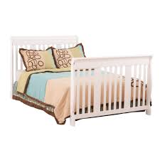 White Convertible Crib With Changing Table by Stork Craft Portofino 4 In 1 Fixed Side Convertible Crib Changer