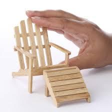 Miniature Adirondack Chair Miniature Oak Adirondack Chair And Footstool Coastal Decor