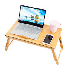 Laptop Bed Desk Tray Nature Style Bamboo Folding Laptop Computer Notebook Table Bed